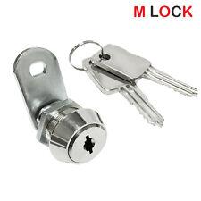 "5/8"" Flat Key Cam Lock High Security 14 Disc Tumbler Triple Bitted Cam Lock"