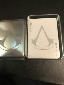 Loot Crate Gaming Exclusive Assassins Creed Playing Cards With Tin New & Sealed