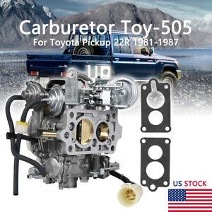 Carburetor TOY-505 Fit For TOYOTA PICKUP 22R Engine 1981-82 1983-84 1985-86 1987