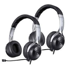 LucidSound LS20 Universal Amplified Stereo Powered Gaming Headset Black 2 Pack