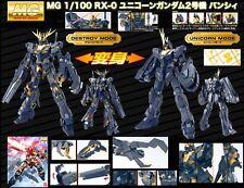 Bandai MG 1/100 Banshee Gundam Unicorn Rx 0 Uc Robot Anime Model Kit Toy S P G X
