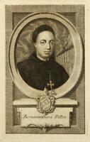 Porträt des Josef Bonaventura Pitter (1708-1764), Mönch und Historiker, Kupferst