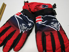 New England Patriots Mens Gloves L/XL SZ Winter Ski Tailgate Game Large Xlarge