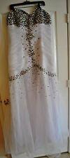 Wedding Dress Plus, Strapless,  White, X-Large (14-16)