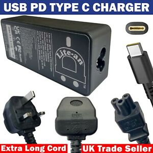 Laptop Power Adapter Charger Type C 65W USB C Supply, for Lenovo ThinkPad P51s