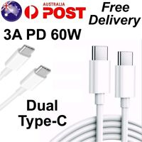 USB Type C to USB-C Cable QC3.0 60W PD Quick Charger Fast Charge Charging Cord