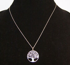 Macy's Sterling Silver Tree Necklace Retail $100  UPC 0034845