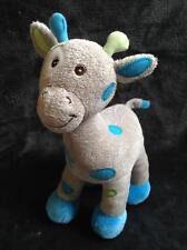 113-Peluche doudou girafe gris bleu-ARTHUR ET LOLA-Bébisol-Comme neuve-4 dispo