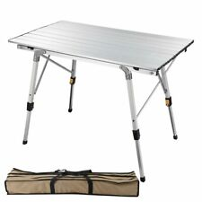 Portable Folding Aluminum Camping Table Roll Up Adjustable Leg Outdoor BBQ Home