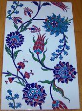 Set de 5 Iznik œ Illet & Motif Floral 25.4cm x 40.6cm Surélevé Turque Céramique