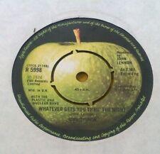 "JOHN LENNON "" WHATEVER GETS YOU THROUGH THE NIGHT ""SUPERB ORIG UK 45"