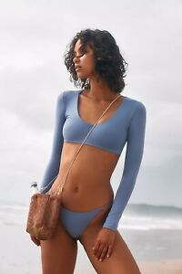 Free People X Toast Swim Cropped Long Sleeve Swim Top Size S