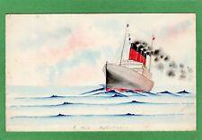 RMS Aquitania hand painted pc used Ref M505
