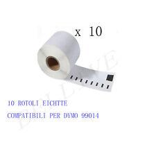 10 X ROTOLI Etichette Compatibili per DYMO 99014 101mmX54mm LABELWRITER 400 450