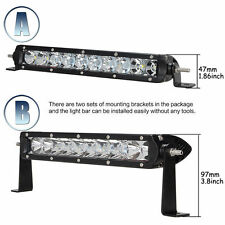 "11"" inch 50W CREE LED Spot Flood Combo Driving Work Light Bar SUV Offroad UTE"