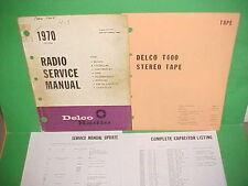 1970 CAMARO CHEVELLE EL CAMINO FIREBIRD 442 GS DELCO 8-TRACK TAPE SERVICE MANUAL