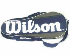 Wilson Tennis Racquet Bag Blue Black White Shoulder Strap And Handle