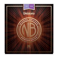 DAddario NB1152 Nickel Plated Bronze Custom Light Acoustic Guitar Strings 11-52