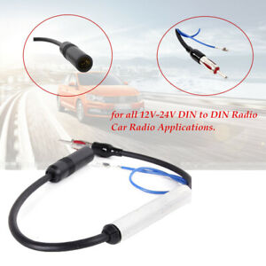 12V Inline AM&FM Reception Car Antenna Radio Signal  Amplifier Booster Wire