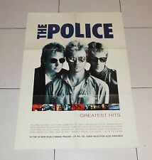 Manifesto Promo THE POLICE Greatest Hits Sting POSTER Affiche advertising
