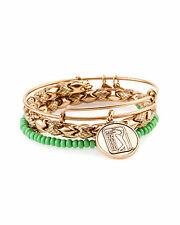 "Alex and Ani Set of 3 ""PGA Tour"" Expandable medina  Bangles bracelet a15rll41rg"