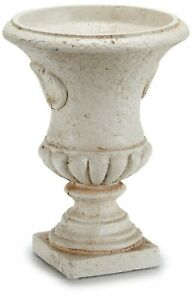 25cm Tall Resin Urn Planter Flower Vase Plant Pot
