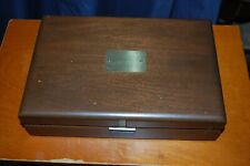 Vintage Wood Jewelry Box  Lined Dresser Trinket Organizer Keepsake Holder Chest