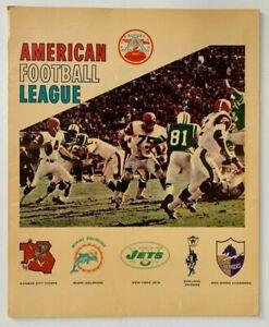 Rare 1967 AMERICAN FOOTBALL LEAGUE School Folder AFL Bills CHIEFS Oilers RAIDERS