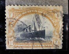 10C 10 Cent US Stamp Fast Ocean Navigation VTG USA Postage Pan-American 1901 HTF