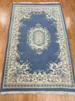 "3'7"" x 5'7"" Chinese Aubusson Oriental Rug - Full Pile - Hand Made - 100% Wool"
