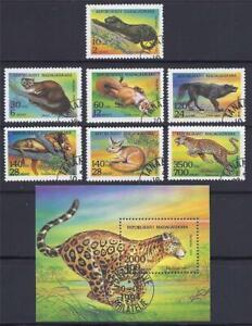 FS719 1994 Madagascar Comp. Set of 7 Stamps + Souvenir Sheet Panther Leopard Fox