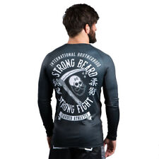 Scramble Strong Beard Rash Guard Black Rashguard No Gi Grappling BJJ MMA