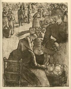 Camille Pissarro original etching 1923 edition