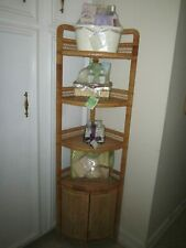 Wicker Corner Bath Unit Four Shelf and Two doors Shipping not Included