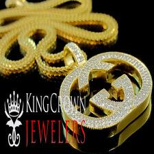 Real Genuine Diamond 10K Yellow Gold Finish Custom Piece Designer Pendant Charm
