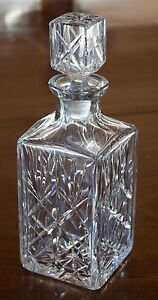 Decanter Cut Glass Very Heavy (S148)