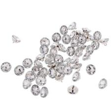 50 Crystal Flower Diamante Buttons For Sewing Craft Upholstery Heaboard 20mm