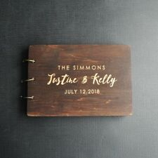 Personalized Wedding Guest Book, Custom Wedding Guestbook, Wooden Guest Book