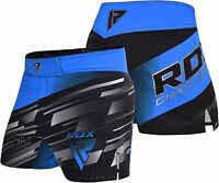 RDX MMA Shorts Boxing Gym Kick Cage Grappling Fight Wear Muay Thai Blue