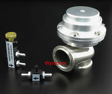 44MM External Wastegate 14-25 PSI Turbo Stainless Steel Valve + MBC Silver II