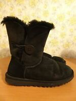 Womens UGG Australia Black Suede Boots - UK 4.5