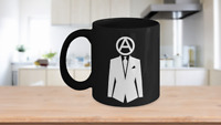 Professional Anarchist Mug Black Coffee Cup Gift Peaceful Protester Activist