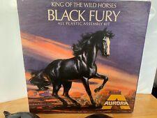 Vintage 1969 Aurora Black Fury King Of The Wild Horses Partially Built Model Kit