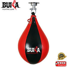 BUKA Leather Speed Ball Training Punching Speed Bag Boxing MMA Pear Punch Bag
