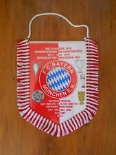 1984 German BAYERN MUNCHEN pennant WITH TROPHIES