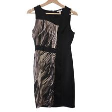 Calvin Klein Dress 0 Black Sleeveless Sheath Cocktail Party Career Work
