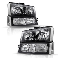 Fits Chevy Silveradoavalanche 2003 2006 Headlights Assembly Pair Headlamp Set Fits 2005 Chevrolet Silverado 2500 Hd Ls