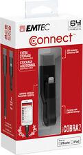 CLE EMTEC USB 3.0 64Go POUR PC APPLE MAC IPHONE IPAD IPOD & connecteur lightning