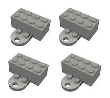 LEGO 4 Dark Bluish Gray Minifigure Display Stands Refrigerator Magnet Bricks NEW