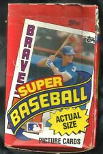 1984 TOPPS SUPER BASEBALL 30 COUNT WAX BOX SET CONTAINS 14 HALL OF FAMERS